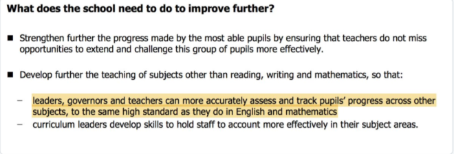ofsted foundation subs quote